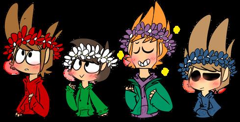 Eddsworld flower crowns