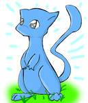 A Blue Mew by StarrySkyDragon