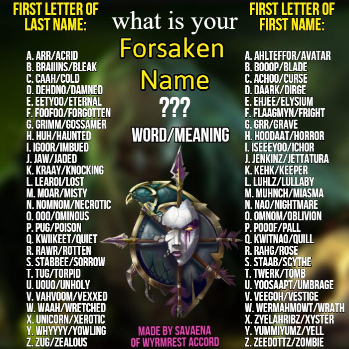 Forsaken Name Generator by Savaena on DeviantArt