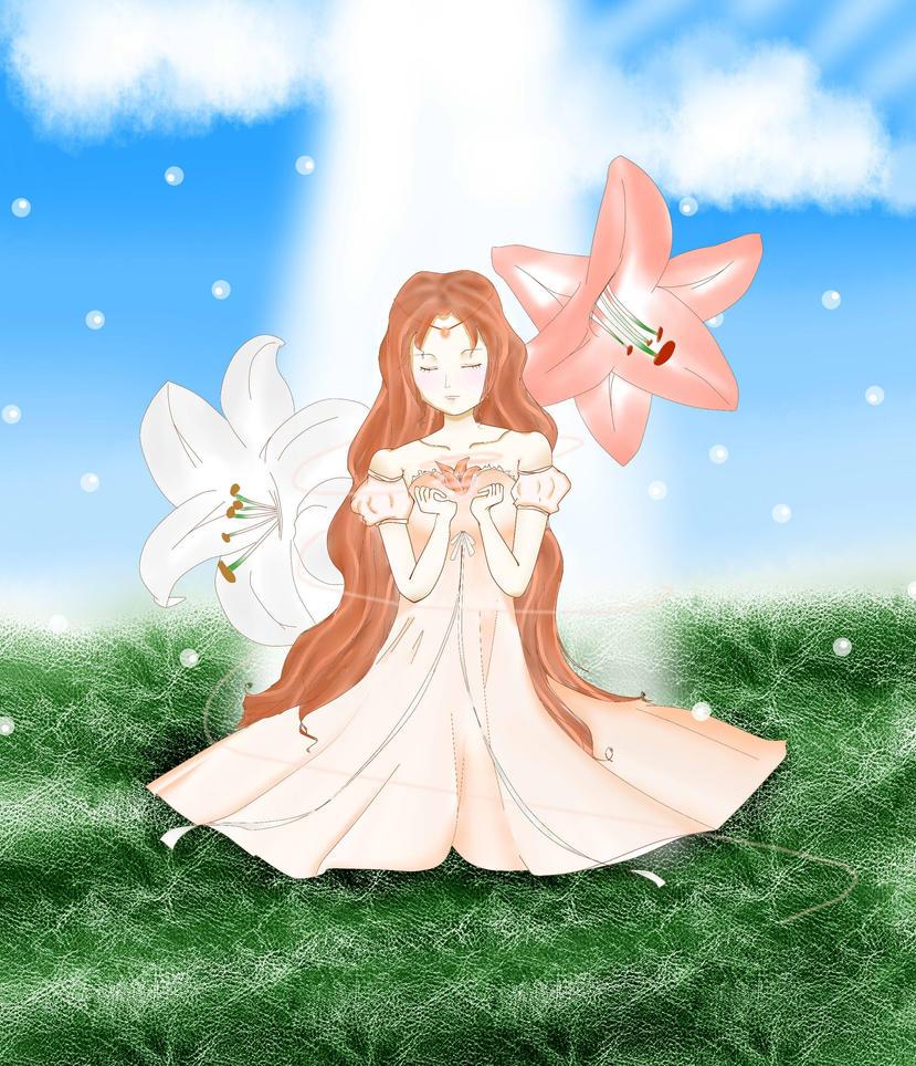 Lily Goddess by Yuka-kisukisu