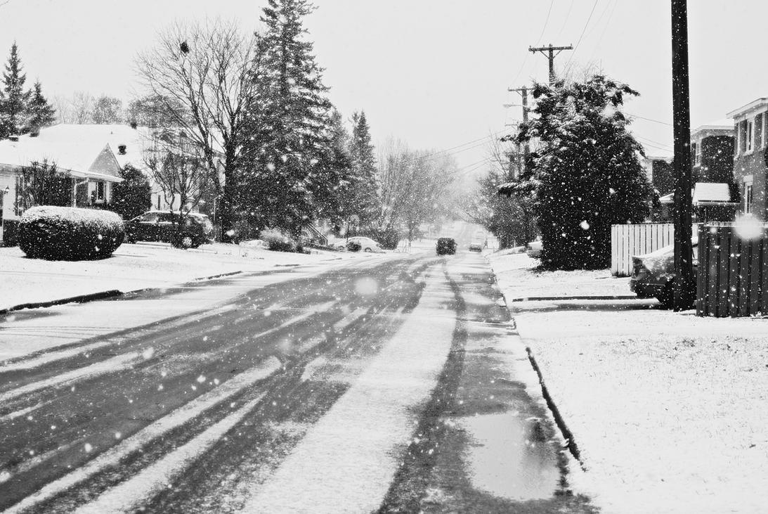 SNOWY STREET by greendragonflywing