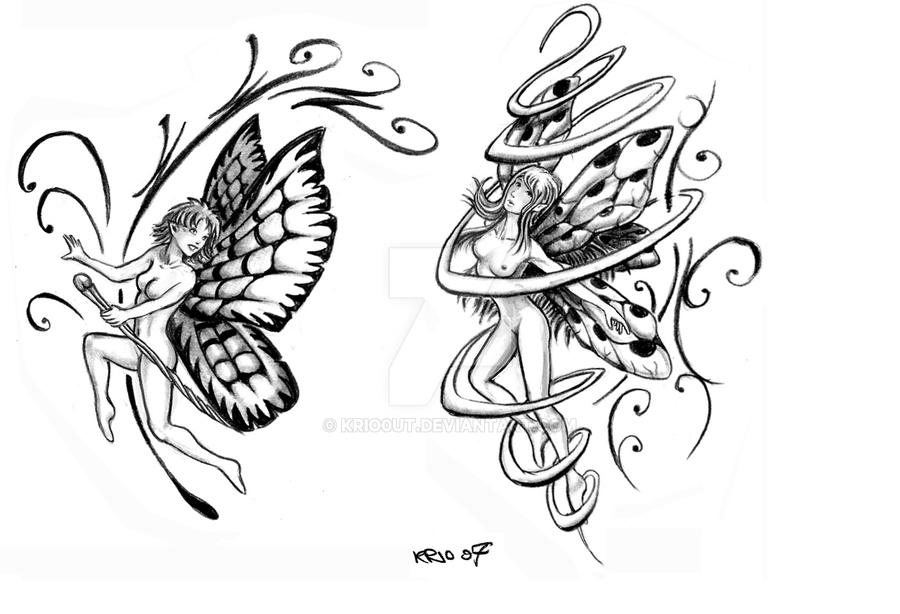 fairy tattoo by krio0ut on deviantart. Black Bedroom Furniture Sets. Home Design Ideas