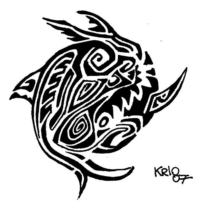 Tribal Yin Yang Tattoo