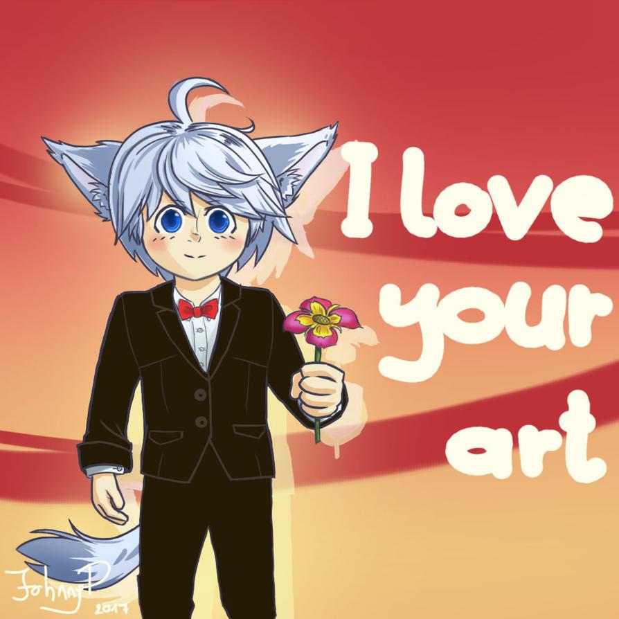 Little Wolf Valentine by Kennardion