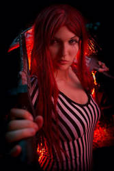 Redcard Katarina - League of legends by SimonaCosplay