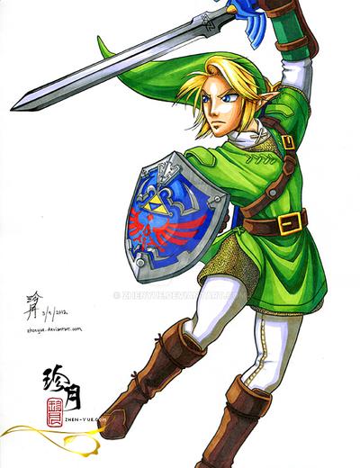 Link - Legend of Zelda by zhenyue