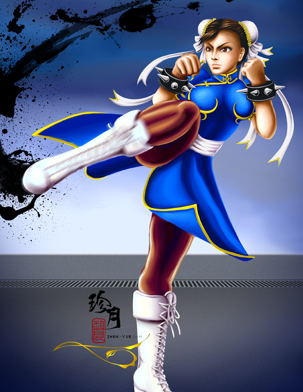 Street Fighter Girls Chun Li By Zhenyue On Deviantart