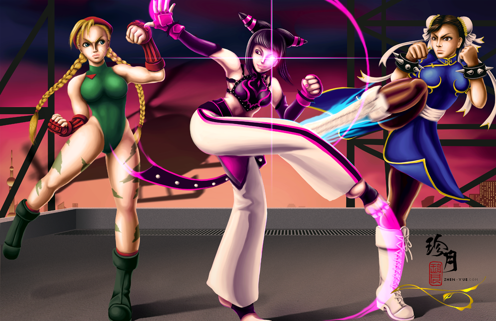 Street Fighter Girls Showdown! by zhenyue