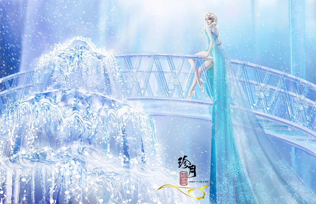The Snow Queen In Her Ice Castle From R Frozen Queenelsa