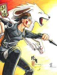 Inuzuka Kiba by zhenyue