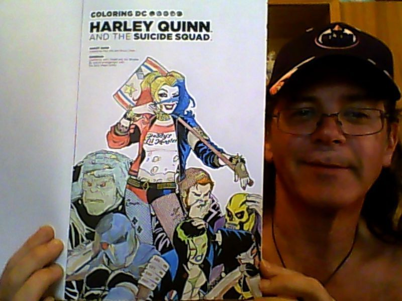 Harley Quinn Coloring Book INTRO Page By Keithzdarkside