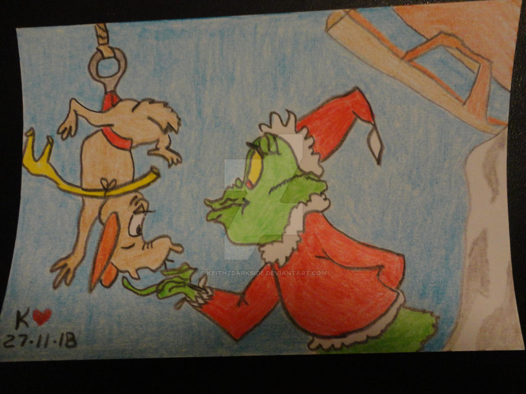 The Grinch and Max by Keithzdarkside