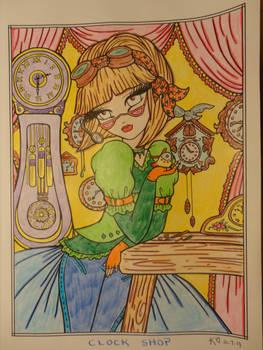 Clock Shop coloring
