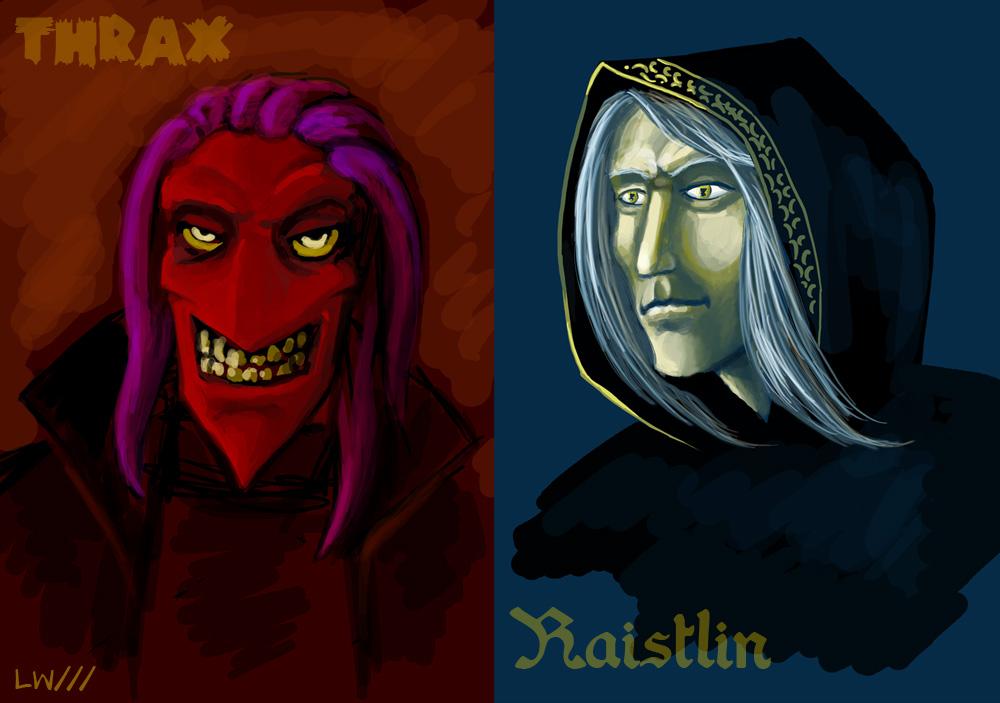 Thrax and Raistlin ske...