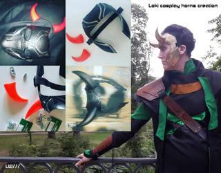 Loki cosplay horns creation