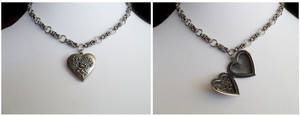 Modular Chainmail Necklace with Locket