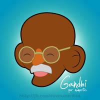 Gandhi by le-numeritos