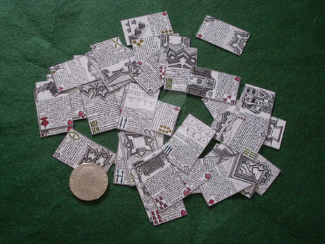 Double suited deck: Spanish and French