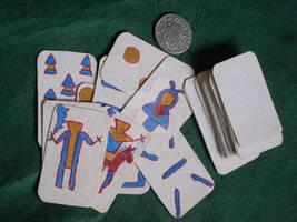 Apache cards closeup