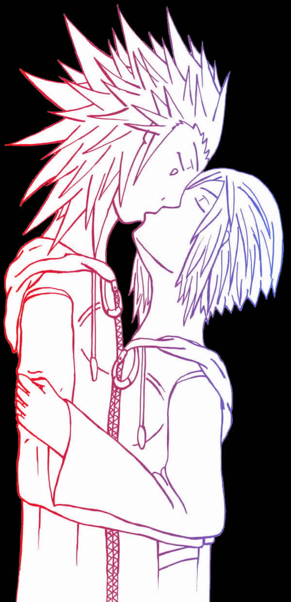 AkuZeku - negative space by fanfiction-fanatic