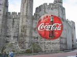 Coke Logo on a Castle