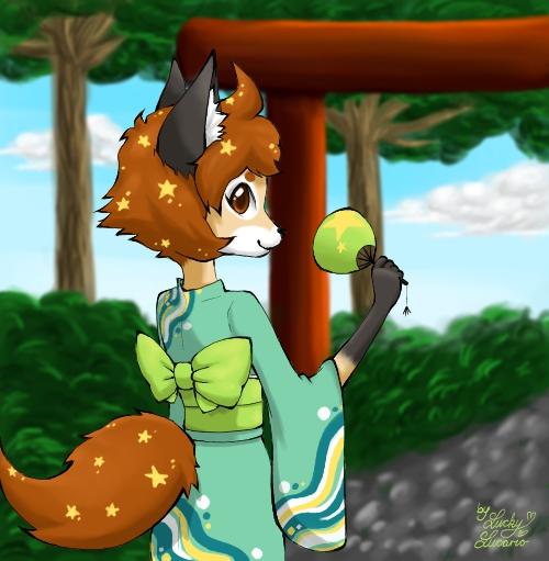 LeafyAkiko - Gift by LuckyLucario