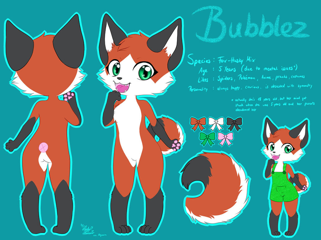 Bubblez Reference Sheet by LuckyLucario