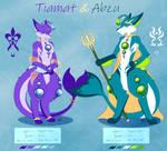Tiamat and Abzu by LuckyLucario