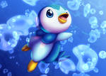 Piplup Redraw by LuckyLucario