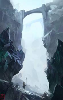 Bluee hills and rocks