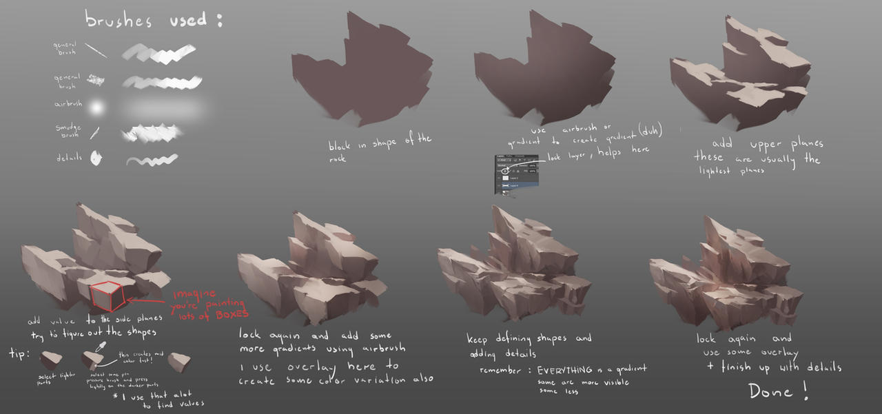 how to draw a rock face in photoshop