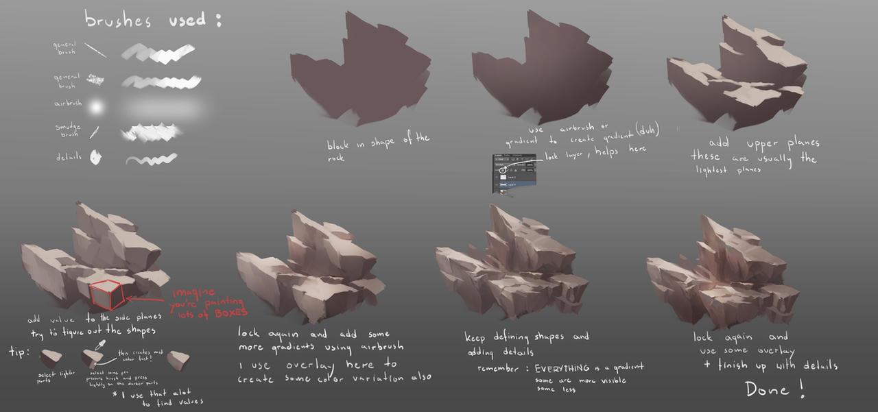 Rocks tutorial v2 by rav89 on deviantart rocks tutorial v2 by rav89 baditri Image collections