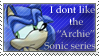Anti Sonic Archie Stamp by Kimiku