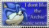 Anti Sonic Archie Stamp by Kimiku