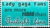 Lady Gaga fans v Twilight fans by Kimiku
