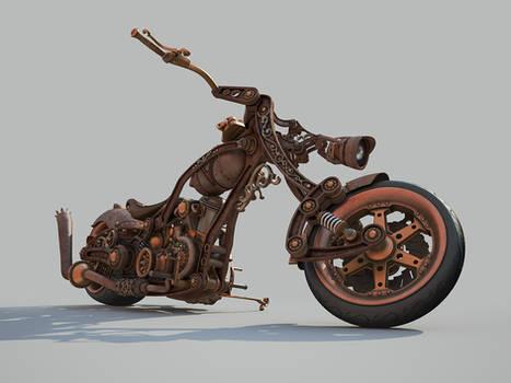 Chopper Steampunk style WIP 8