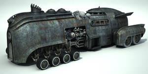 WIP Steamcar, texturing