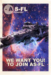 AS-FL Recruitment Poster, Idris