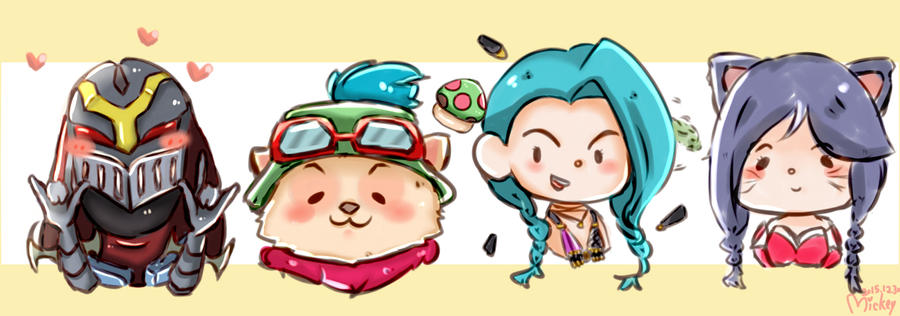League Of Legends Champions Chibi By Mickeytsang On Deviantart