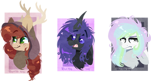 Headshot Ponies YCH (closed) by D-Dyee