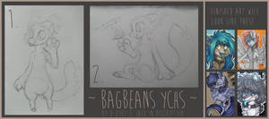 YCH : Bagbeans / traditional (closed) by D-Dyee