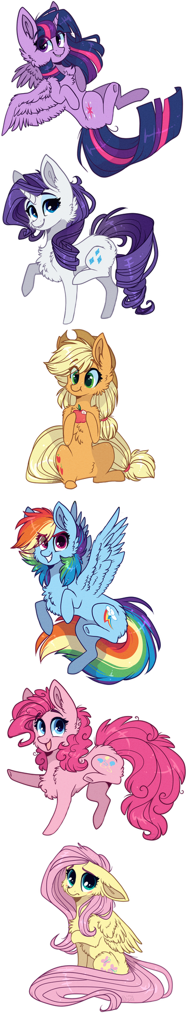 Chibis pack - Main 6 by D-Dyee