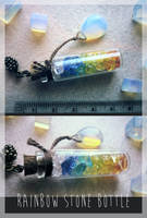 <b>FOR SALE : Rainbow Stone Bottle (closed)</b><br><i>Tayga-Crafts</i>