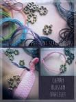 FOR SALE : Cherry Blossom Bracelet (open) by D-Dyee