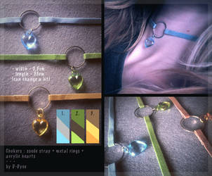 FOR SALE : Heart Ring Chokers (2/3 open) by D-Dyee