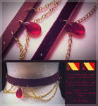 FOR SALE : Red Tear Chokers (1/2 open) by D-Dyee