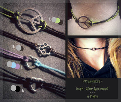 FOR SALE : Strap Chokers (3/4 open) by D-Dyee
