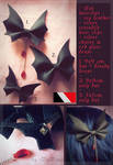 FOR SALE : Bat Leather Hair Clips (1/3 open) by D-Dyee