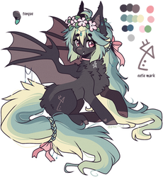 AUCTION : Forest flower bat pony (closed) by D-Dyee