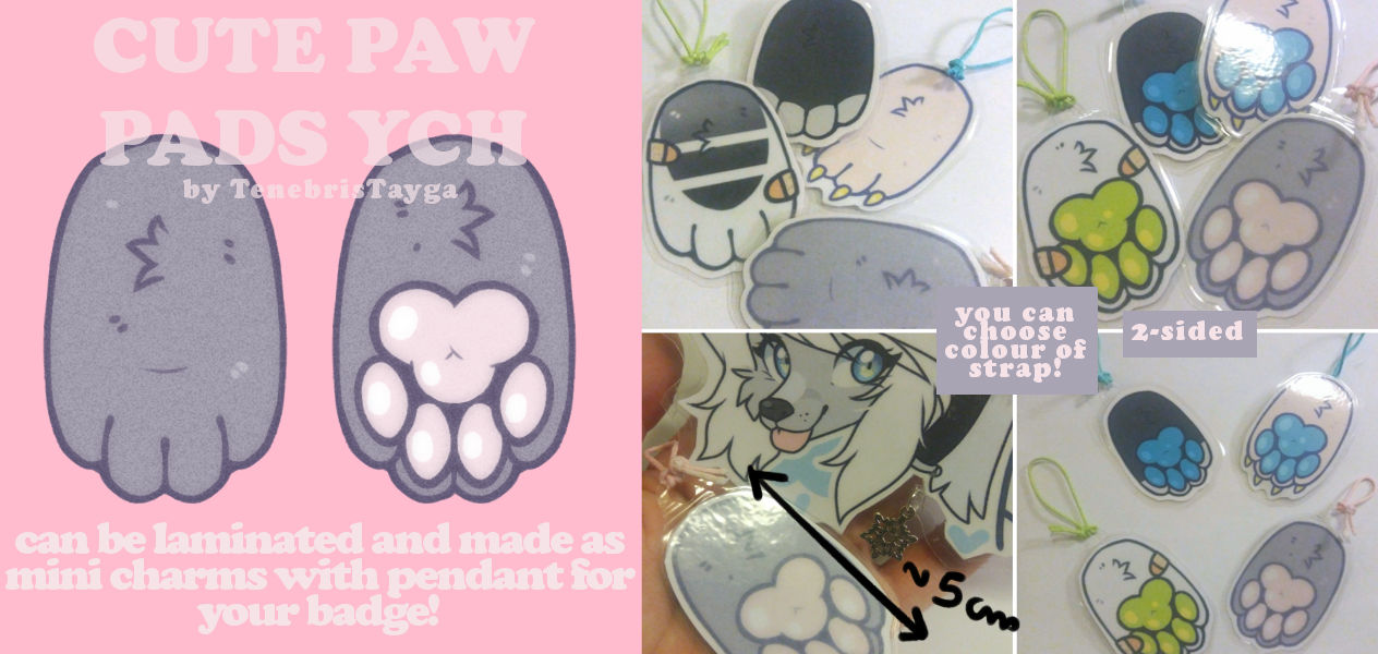 YCH : cute paw pads (open)